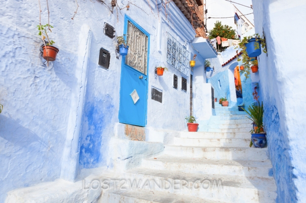 26145130 - an alleyway in the medina, chefchaouen, morocco