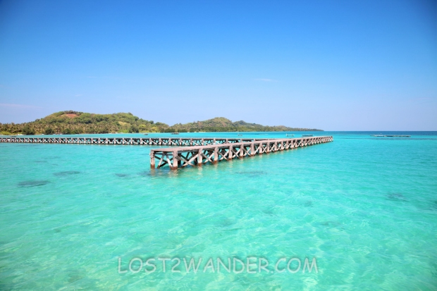 10989148 - jetty and turquoise water in karimunjawa, indonesia